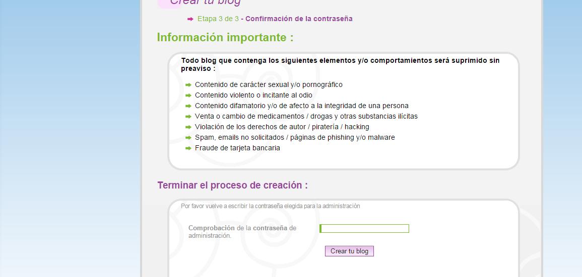 Cómo crear un blog en Hazblog Blog_h13