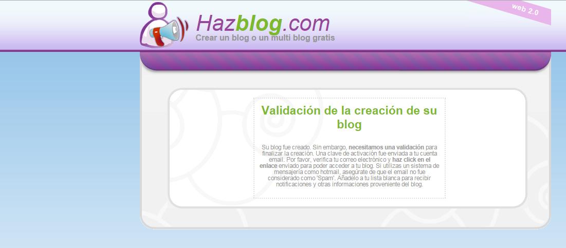 Cómo crear un blog en Hazblog Blog_h14