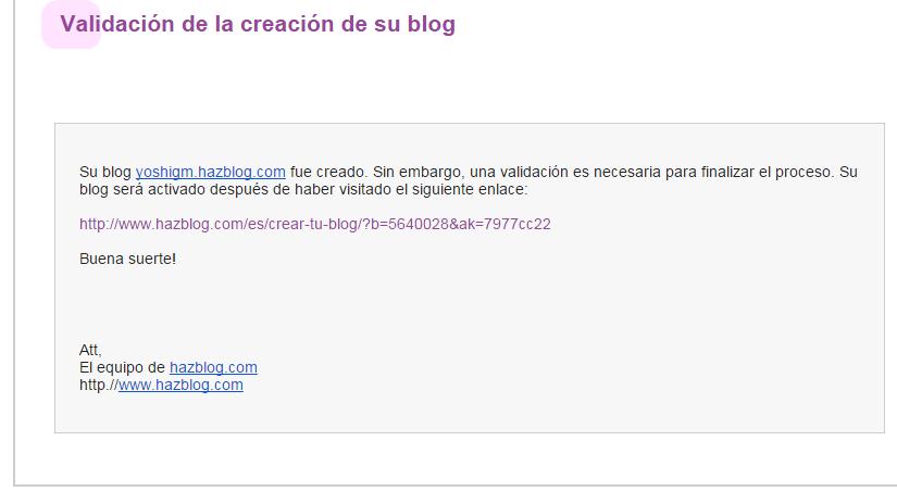 Cómo crear un blog en Hazblog Blog_h15