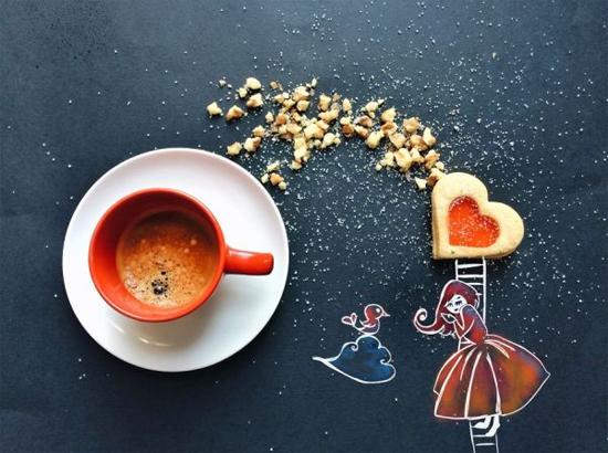 Chùm tranh sáng tạo độc đáo từ ly cafe sáng  Cafe1210