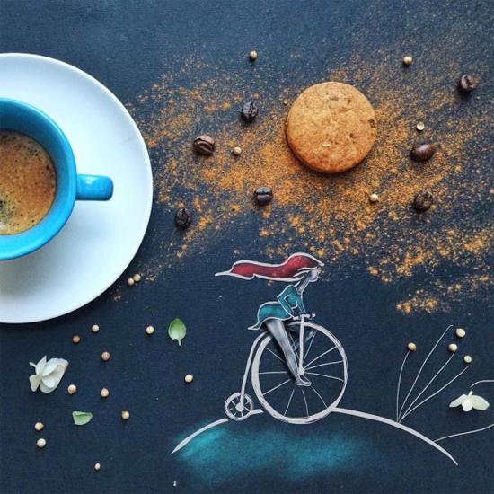 Chùm tranh sáng tạo độc đáo từ ly cafe sáng  Cafe6-10