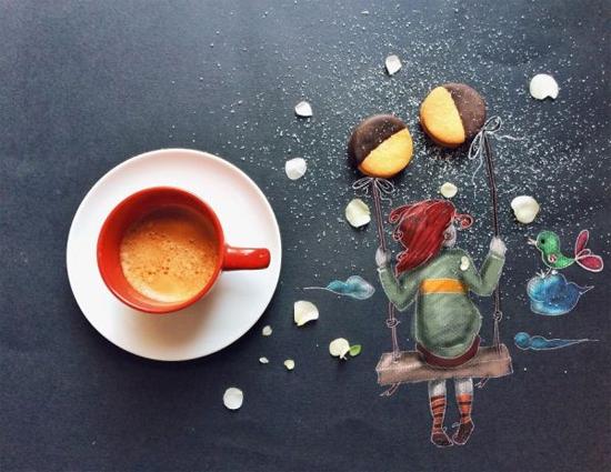 Chùm tranh sáng tạo độc đáo từ ly cafe sáng  Cafe7-10