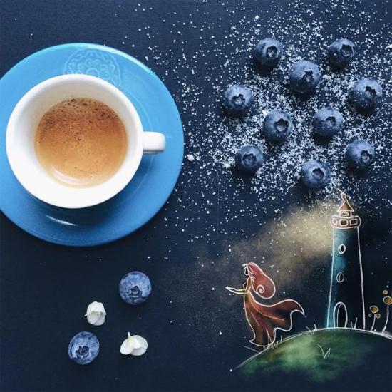 Chùm tranh sáng tạo độc đáo từ ly cafe sáng  Cafe8-10
