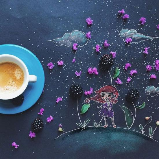Chùm tranh sáng tạo độc đáo từ ly cafe sáng  Cafe9-10