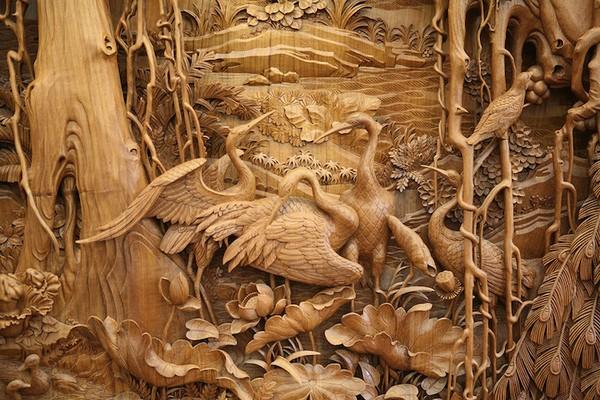 Nghệ thuật điêu khắc đỉnh cao thổi hồn vào từng thớ gỗ Wood6-10