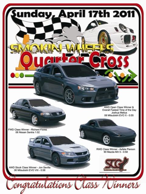 2011 Smokin Wheels Quarter Cross Results Fastes10