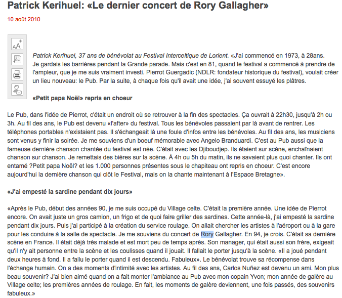 Festival Interceltique de Lorient, 09 août 1994 [Bootleg] Lorien10