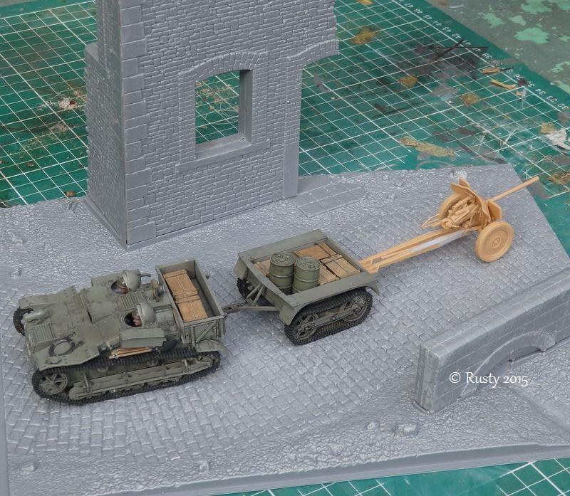 Chenillette Renault UE et canon de 25 [Tamiya et Heller 1/35] Pa112511