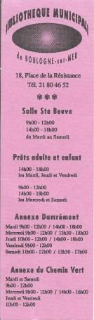 Bibliothèques de Boulogne sur mer (62) 2785_110
