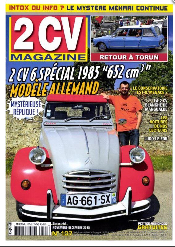 2CV Magazine Nov/Decembre 15. Captur28