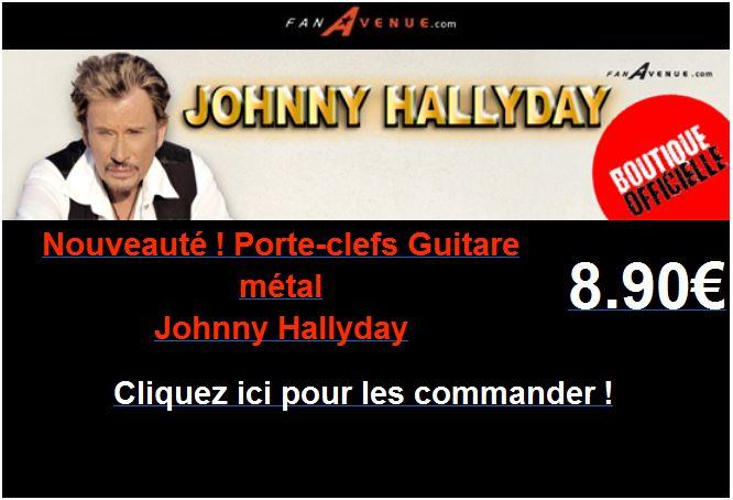 Porte- clefs guitare métal johnny Hallyday Captu103