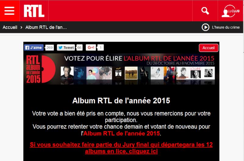 Votez Johnny 'rester vivant' sur RTL Captur28