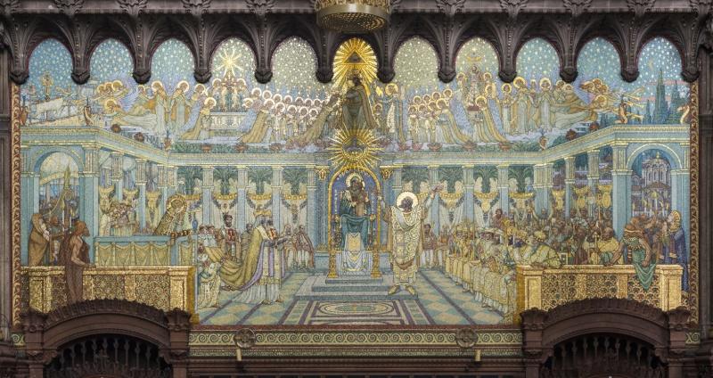 Mosaïques en la Basilique de Fourvière. Mg_74211