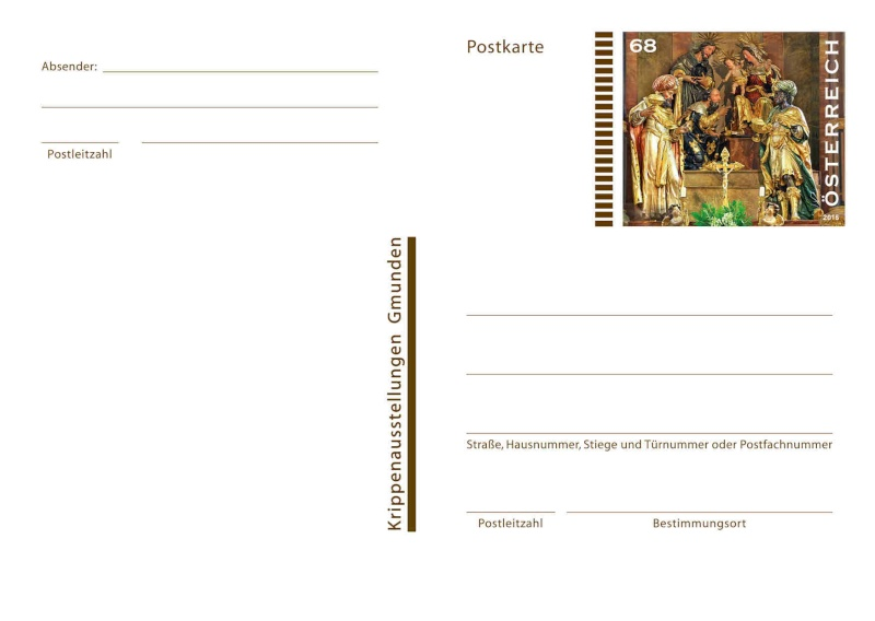"""Postkartenausgabe 2015 - """"Dreikönigsaltar, Gmunden"""" 1120_p10"""