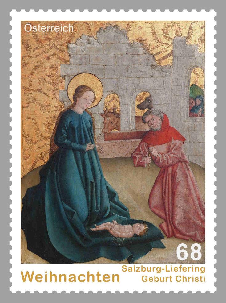 """Weihnachten - Sondermarke """"Weihnachten 2015 - Salzburg-Liefering, Geburt Christi"""" 1127_s10"""