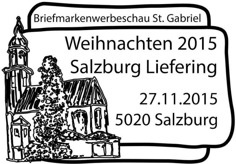 """Weihnachten - Sondermarke """"Weihnachten 2015 - Salzburg-Liefering, Geburt Christi"""" 15112710"""