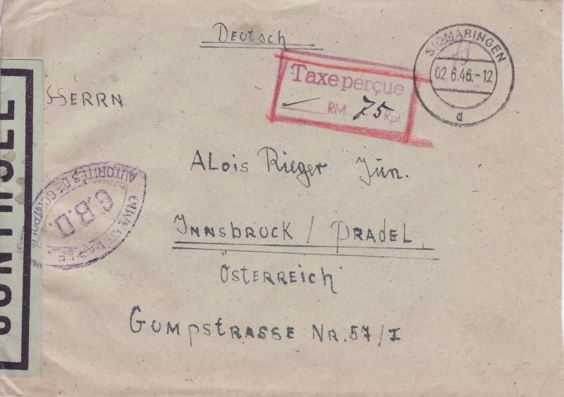 Französische Zone Deutschland 1946 2_6_4610