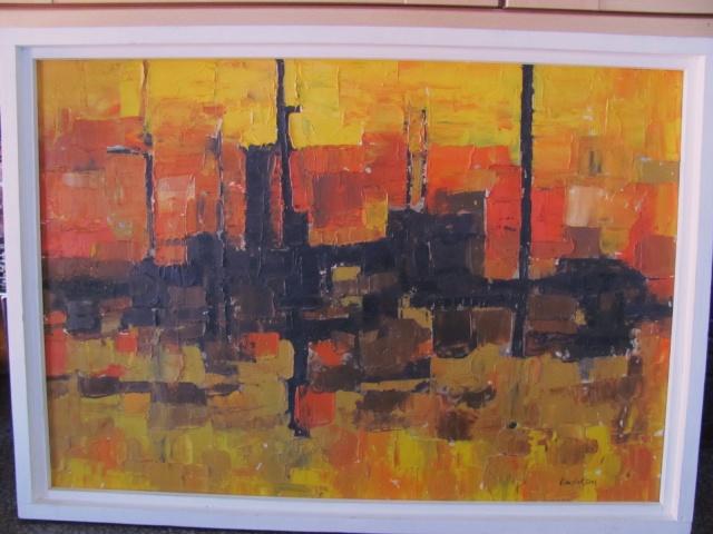Trevor Rushton Abstrct Oil Painting any info? Img_1510