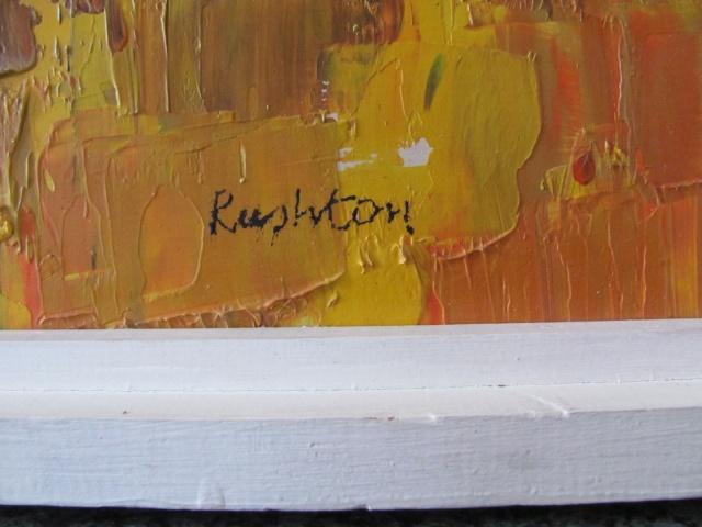 Trevor Rushton Abstrct Oil Painting any info? Img_1511