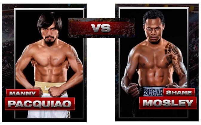 Pacquiao vs Mosley, kinsa kaha mo daug ani nga panag bugno unjang udto oras sa Pilipinas. Pacman10