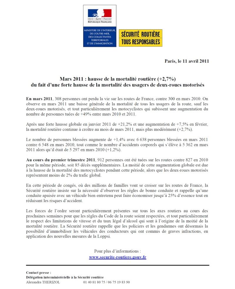 Communiqué SR mars 2011 Projet12