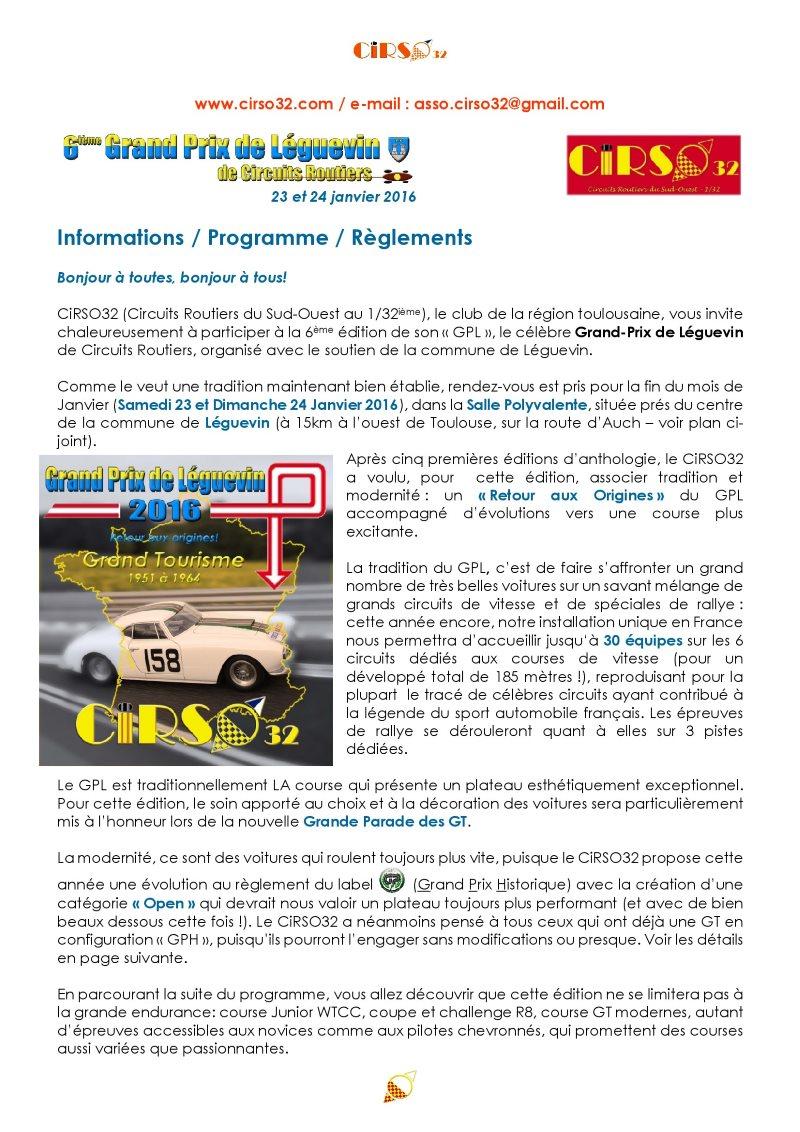 GPL 2016 : le programme des rejouissances 1progr11