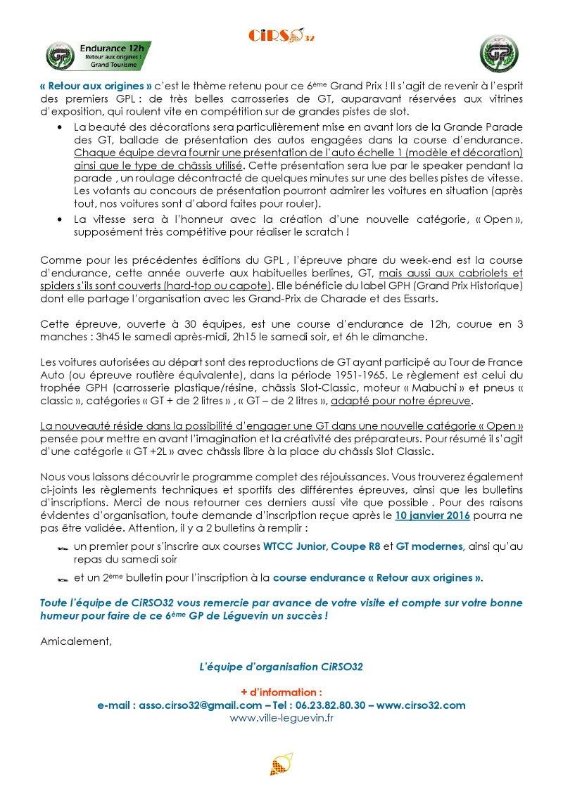 GPL 2016 : le programme des rejouissances 1progr12