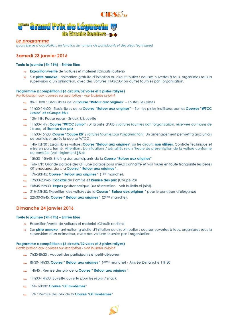 GPL 2016 : le programme des rejouissances 1progr13