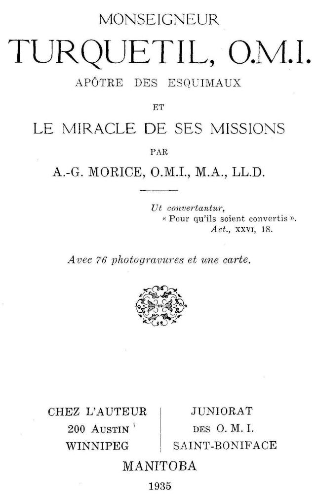 Mgr Turquetil, Apôtre des Esquimaux. Turque10