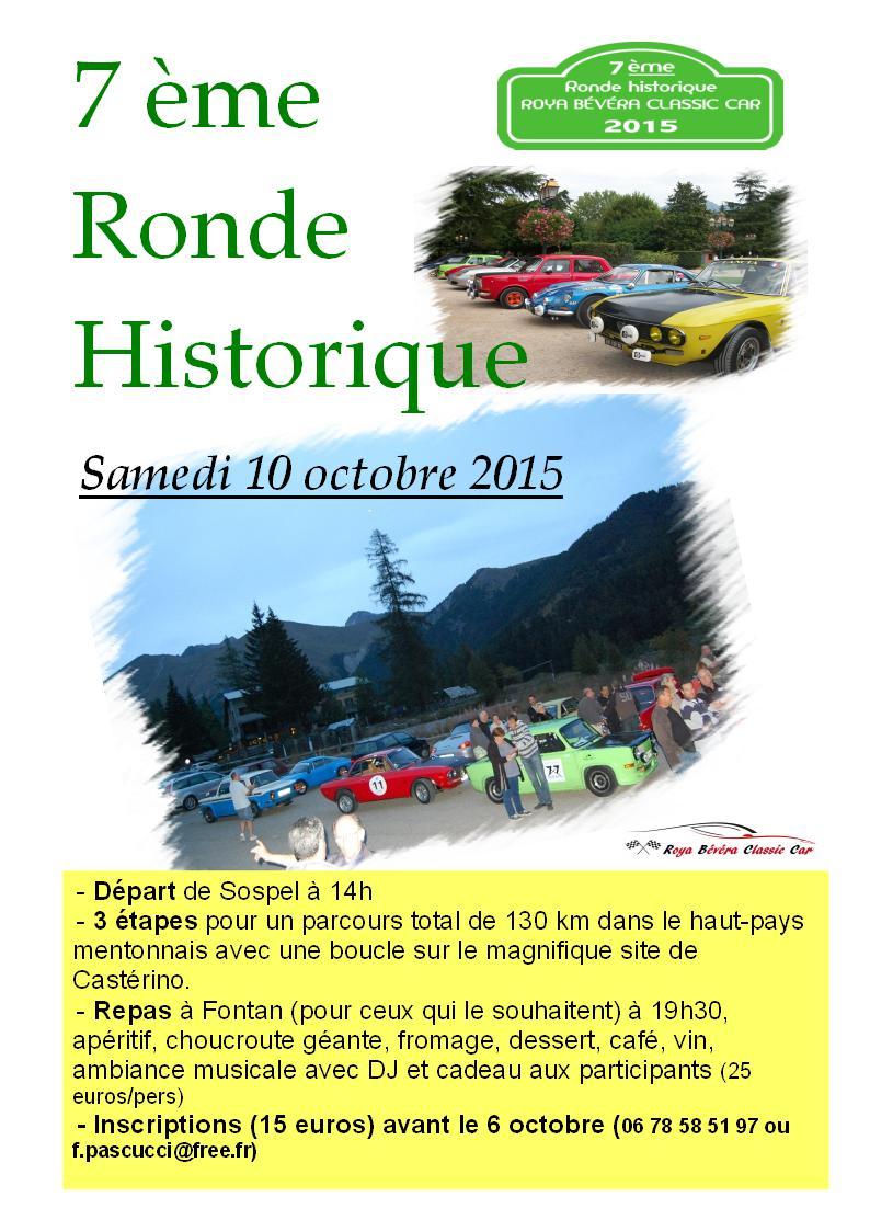 [06][10/10/2015]  Ronde Historique RB Classic Car Affich11