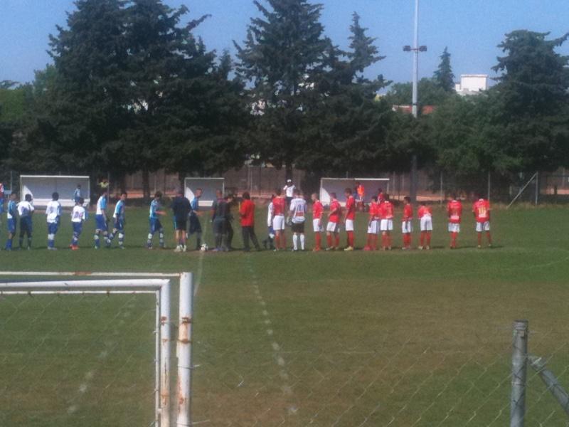 U15 honneur : Belle victoire 4-1 à nimes cheminots pour le dernier match de championnat Mai_2012
