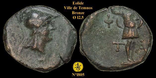 Petit bronze de Temnos en Éolide ... 180510