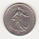 Pièce de FR Semeuse 1971 frappée d'un cercle Piece_10