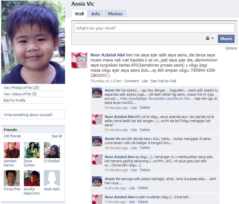 Orang NUNTUNAN di facebook Facebo10