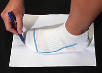 Come determinare la misura delle scarpe Drawin10