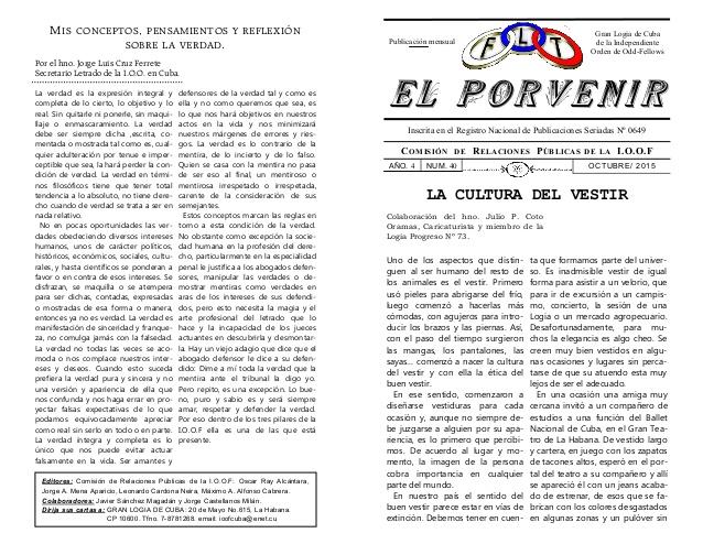Boletín Gran Logia de Cuba de la Independiente Orden de OddFellows Oct-2010