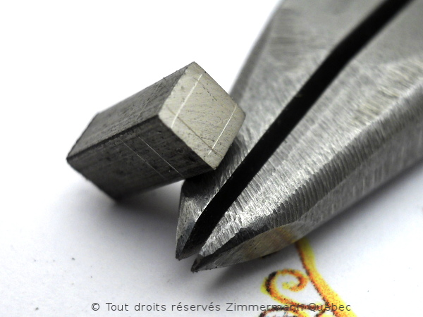 Solitaire palladium avec diamant taille princesse 14/100 ct Dscn7811