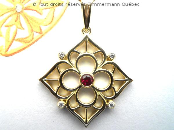 Fleur ajourée, rubis et diamants Dscn8010