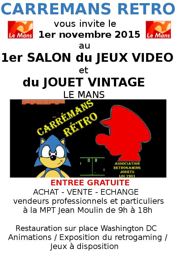 Salon Du Jeu Video Retro et Jouet Vintage. Carremans Retro Flyer_10