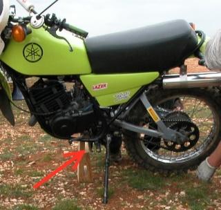 Sortie avec la moto du mois Calage12