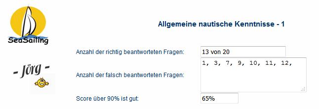 Link - Fragebogen allgemeine nautische Kenntnisse Nautic10