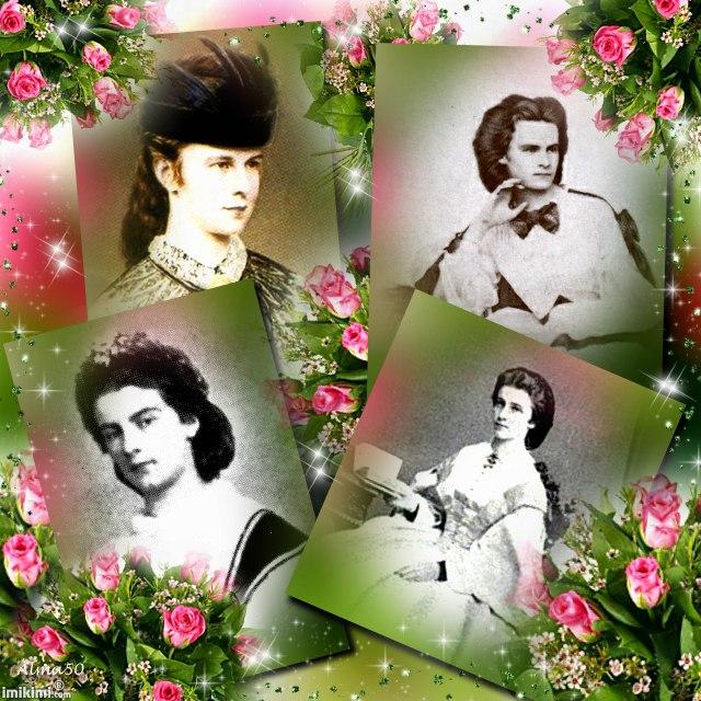 Montages des membres de la famille de Sissi et de franz Sissi_12