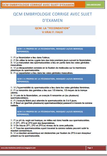 QCM embryologie corrigé avec sujet d'examen PDF - Page 7 Sans_t10