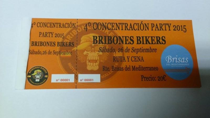 4ª PARTY BRIBONES BIKERS Ticket10