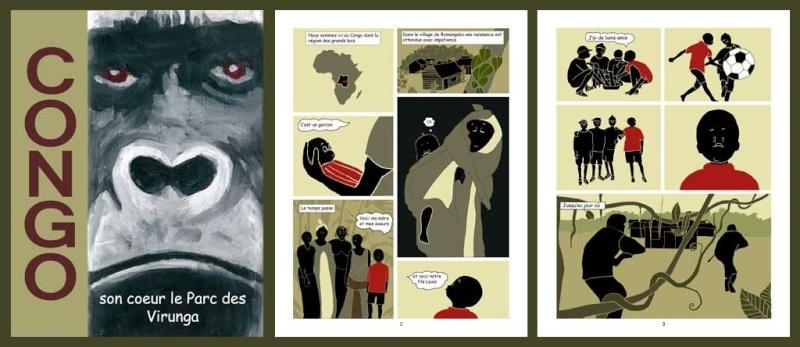 CONGO    Nuages sombres sur les Virunga   [Jacot, Jean-Pierre] Comic_10