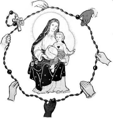7 octobre Fête de Notre-Dame de Pompéi, Reine du Rosaire! Rosaje10