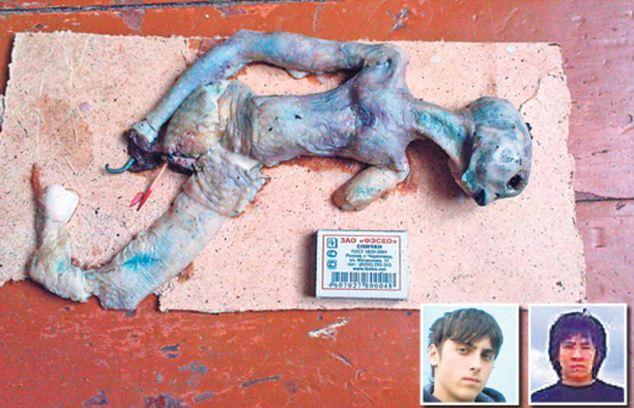 Ufologie forum paranormal extraterrestre Russie Sibérie explosion OVNI rencontre du troisième type cadavre dépouille neige Irkoutsk vidéo avril 2011 canular fake montage Timur Hilall, 18 ans, et Kirill Vlasov
