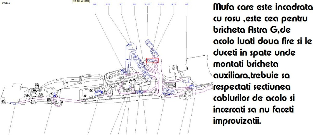 Tutorial montare priza 12V in portbagaj Astra H Caravan Briche11