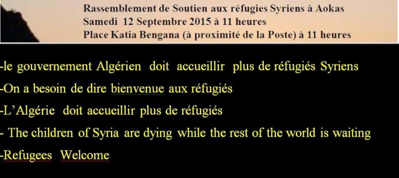Rassemblement de Soutien aux réfugies Syriens à Aokas Samedi  12 Septembre 2015  1010