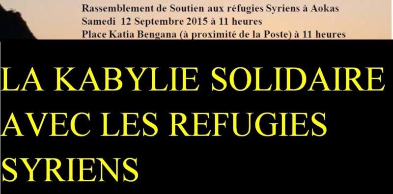 Rassemblement de Soutien aux réfugies Syriens à Aokas Samedi  12 Septembre 2015  1011